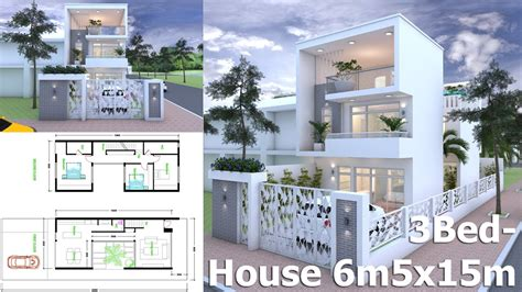 house design sketchup youtube how to get inspire sketchup modern home plan 6 5x15m youtube