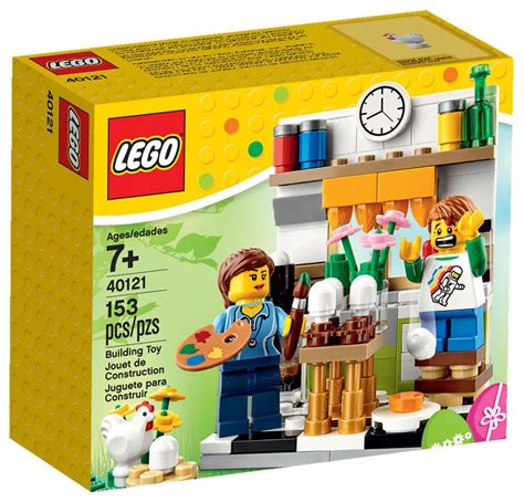 Lego Kitchen Island by Review Lego 40121 Painting Easter Eggs