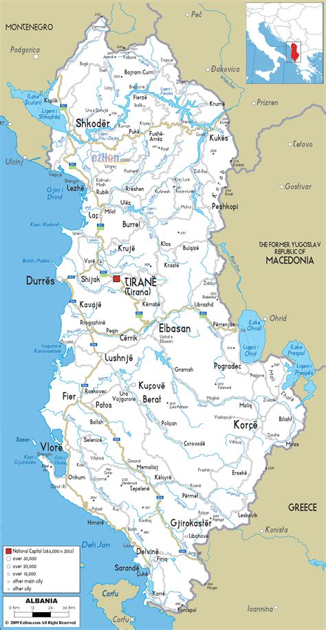 map of albania maps of albania map library maps of the world