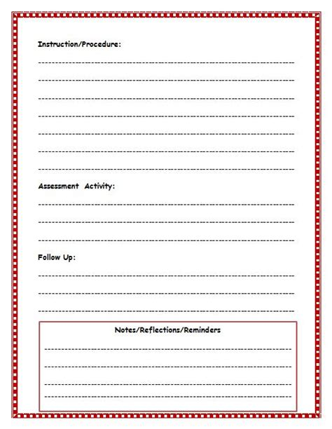 Basic Lesson Plan Template by Free Lesson Plan Template Lesson Plan Template For