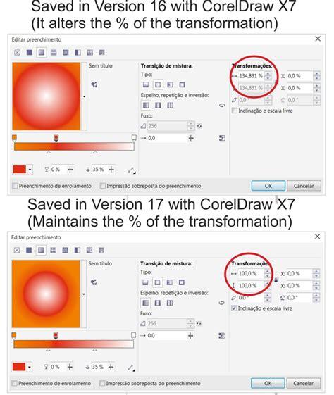 corel draw x7 gradient coreldraw x7 bug gradients elliptical conical or