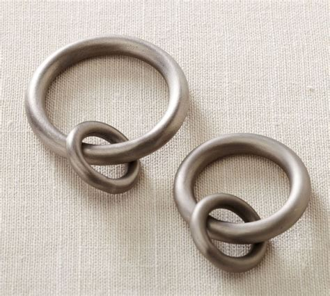 pewter curtain rings nib s 7 pottery barn antique pewter vintage round curtain