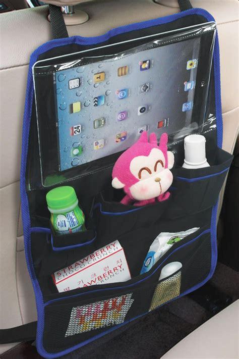 back of car seat organizer car seat back organizer with screen pocket