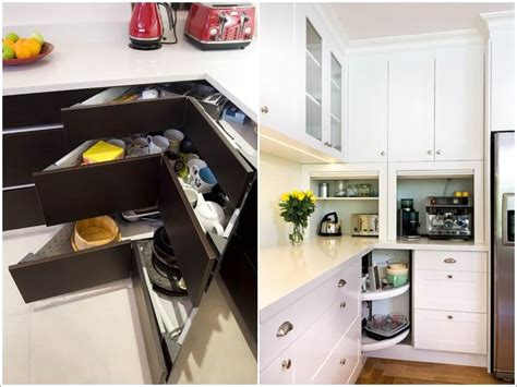 Corner Kitchen Cabinet Storage Ideas Clever Storage Ideas For Corner Kitchen Cabinets
