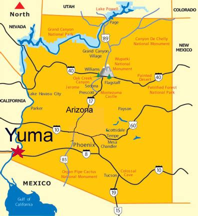 map yuma arizona surrounding area