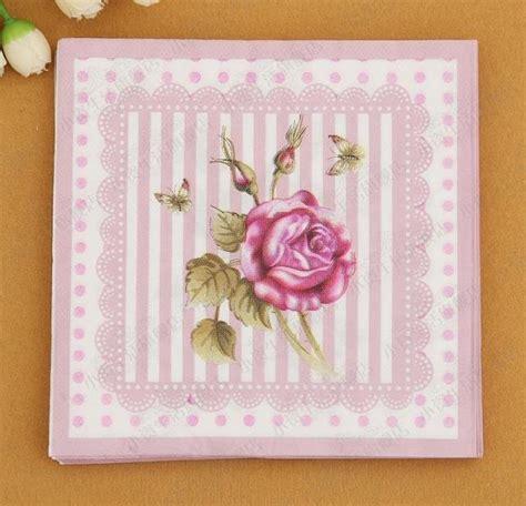 Napkin Tissue Decoupage 375 free shipping 1000pcs flower paper napkin festive tissue napkins decoupage