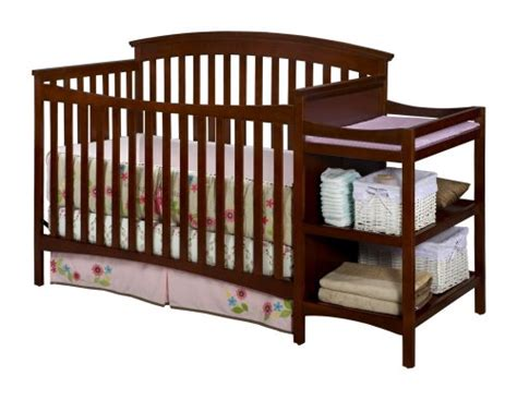 Changing Table Attached To Crib Delta Children S Products Walden Crib And Changer Spice Cinnamon Delta Children S Products