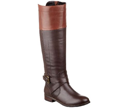 qvc boots marc fisher leather wide calf boots anlosa qvc