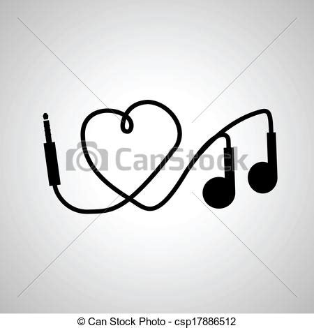 i love music headphones vector clip art search