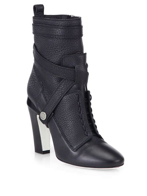 fendi boots for fendi diana 105mm leather ankle boots in black lyst