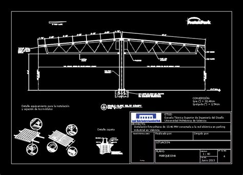 photovoltaic shelter dwg block  autocad designs cad