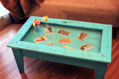 display coffee table tempered glass display table rustic