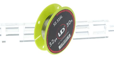 Dijamin Authentic Ud Stainless Steel Wire 32 Awg 0 2mm Vapor Rda 1 80 authentic youde ud 316l stainless steel heating wire
