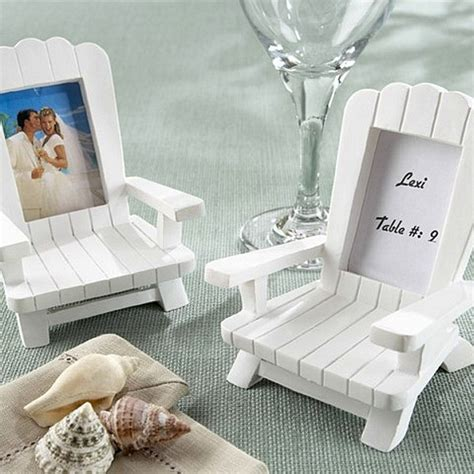 4 Pc. Adirondack Chair Place Card Photo Frame Favors Set