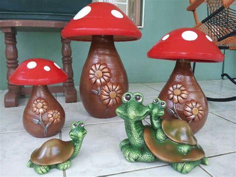 maquetas de tortugas con botella hongos en barro y tortugas de cer 225 mica para tu jard 237 n o