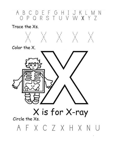 x ray coloring pages for kids coloring home