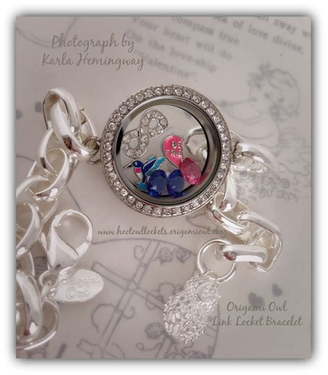 Origami Owl Link Locket - silver plate