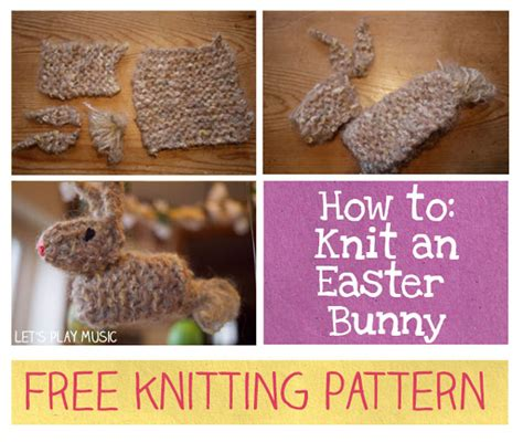 how to knit a easter how to knit an easter bunny and a easter