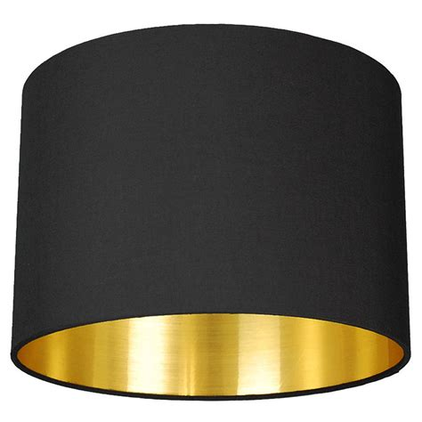 black l shades with gold lining brushed gold lined l shade choice of colours by quirk
