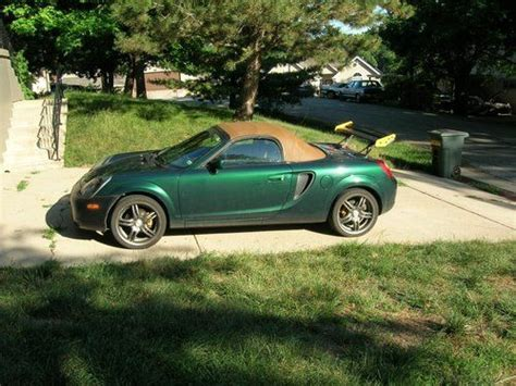 automobile air conditioning repair 2001 toyota mr2 parking system sell used 2001 toyota mr2 spyder mileage 80079 00 green and tan leather 17 alloys in kansas