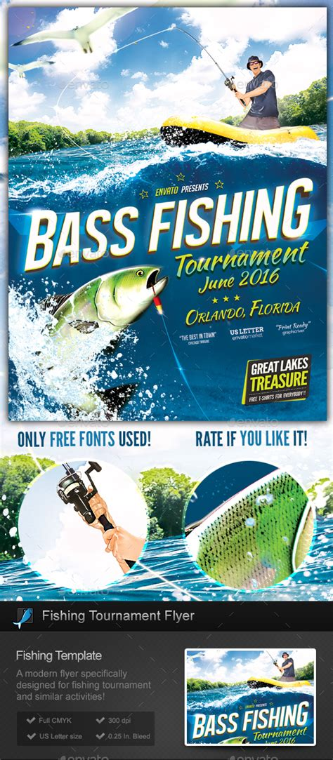 Fishing Tournament Flyer Poster Template By Stormdesigns Graphicriver Tournament Flyer Template