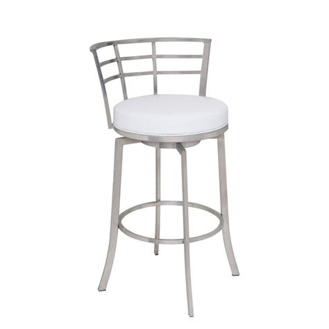 30 leather bar stools armen living viper 30 quot faux leather bar stool in white