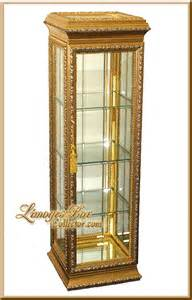 Gold Glass Display Cabinet Italian Gold Leaf Beveled Glass Curio Display Cabinets At