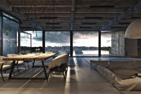 industrial style and concrete flooring repurposing an
