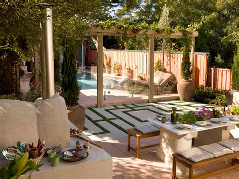 Tuscan Backyard Landscaping Ideas 10 Mediterranean Inspired Outdoor Spaces Outdoor Spaces Patio Ideas Decks Gardens Hgtv