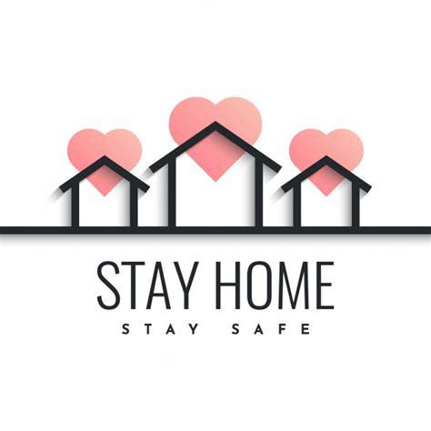stay home stay safe design illustration premium vector
