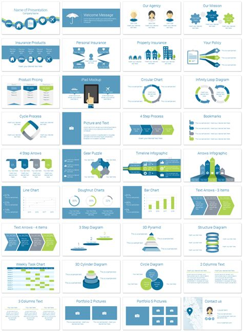 Insurance Powerpoint Template Presentationdeck Com Slides Templates