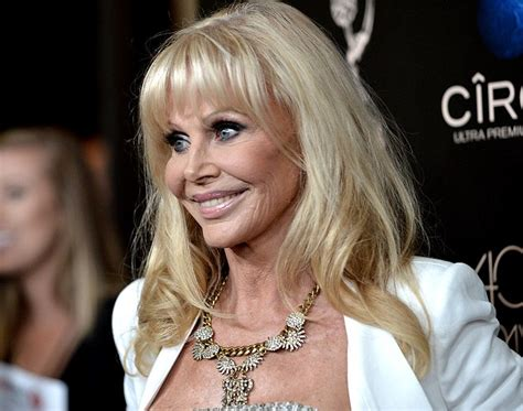 70 year old beauty britt ekland looks remarkably fresh faced and wrinkle free