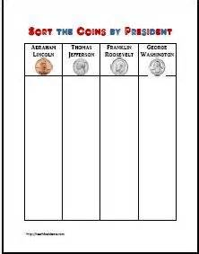 presidents day coin sort amp graph activity free