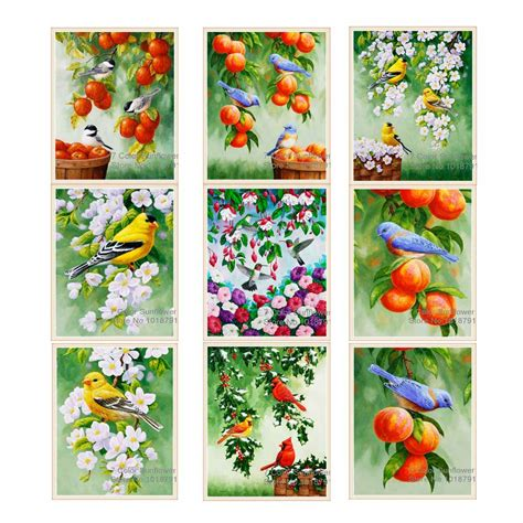 Painting Cross Stitch 7 aliexpress buy 20cmx30cm 5d painting magnolia flower bird painting cross