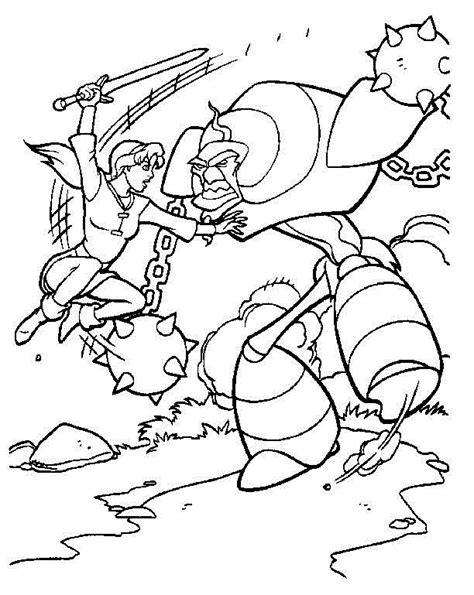 the magic sword quest for camelot coloring pages for kids