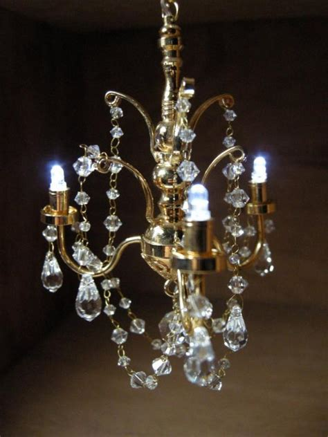 Battery Operated Chandelier Dollhouse Battery Operated Led Chandelier Lcr7782 Ebay