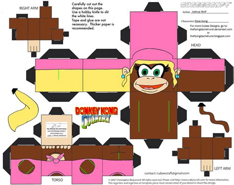 Kong Papercraft - vg17 dixie kong cubee by theflyingdachshund on deviantart