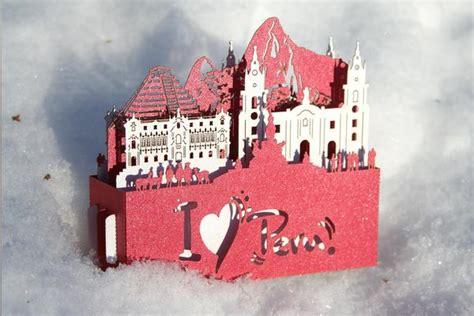 Gift Card Peru - peru landmark gift card greeting card luxury present colibrigifts