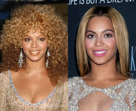 celebrities with perms beyonce with her 80s perm and now celebrities hair