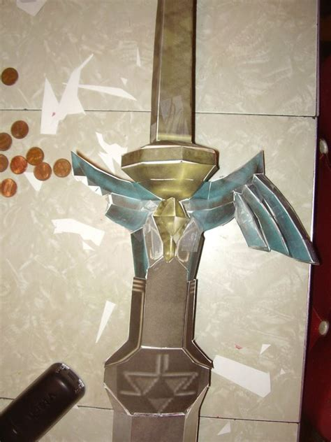 Master Sword Papercraft - master sword ocarina of time paper crafts