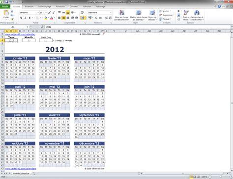 Calendrier Annuel 2017 Avec Jours Fériés Mod 232 Le De Calendrier Excel Annuel T 233 L 233 Charger