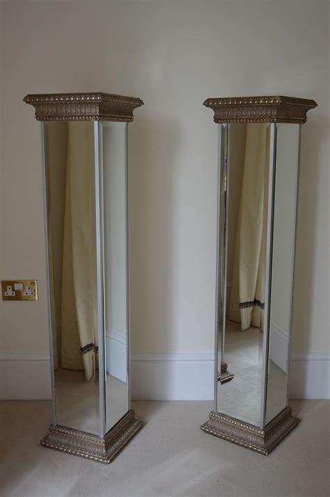 home decor stands pair louis baron roman style mirrored pillars columns