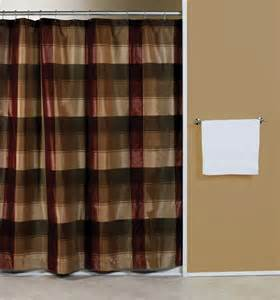 curtain bath outlet plaid blue or burgundy fabric