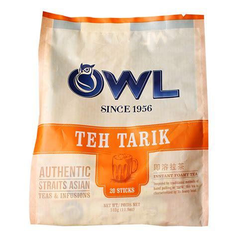 Owl Teh Tarik 20 Sachets owl teh tarik instant foamy tea 17g from redmart