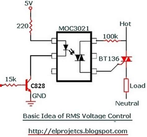 ac resistor load avr c code for rms voltage using bt 136 and moc 3021 telecommunication and electronics
