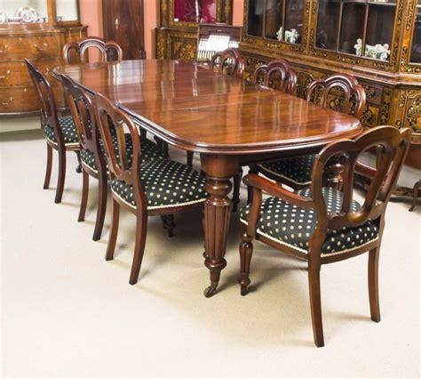 mahogany dining room table and 8 chairs antique mahogany dining table 8 chairs c1870