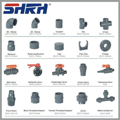 Pvc Plumbing Supplies by All Types Of Pvc Pipe Fittings Names For Water Discharge