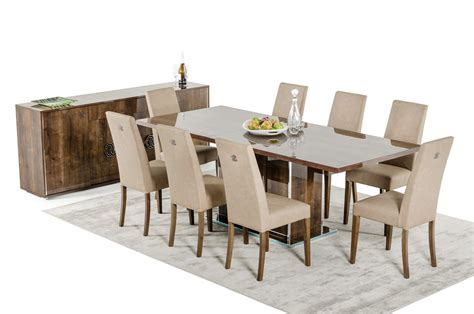 Contemporary Dining Tables Sets Modrest Athen Italian Modern Dining Set