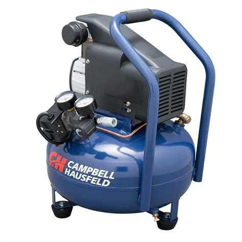 cbell hausfeld 6 gal portable pancake electric air compressor hm750000av the home depot