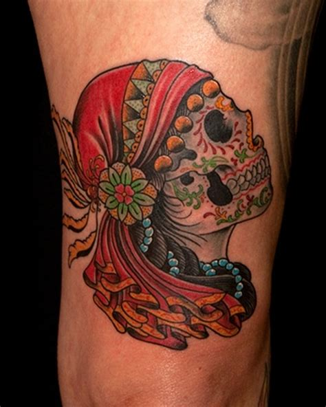 gypsy skull tattoo designs traditional sugar skull design tattoos book